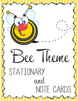 bees stationery and note cards ms word editable by artrageous fun
