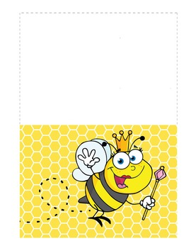 BEES - Stationery and Note Cards / MS Word, editable