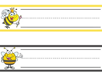 BEES - Student desk nameplates, you personalize