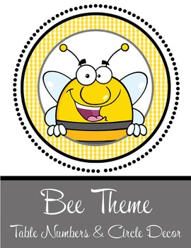 BEES - Table Numbers and Circle Decorations