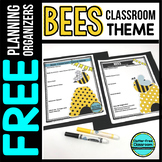 BEES Theme Decor Planner by Clutter Free Classroom