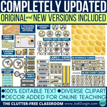 BEE THEMED Classroom Decor EDITABLE