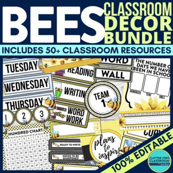 Bee Theme Classroom Decor Pack