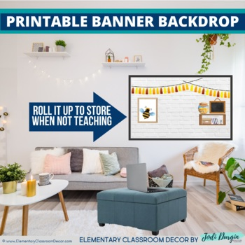 BEES THEME Classroom Decor - 2 EDITABLE Clutter-Free Classroom Decor BUNDLE