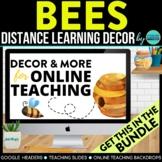 BEES THEME Classroom Decor - 2 EDITABLE Clutter-Free Class