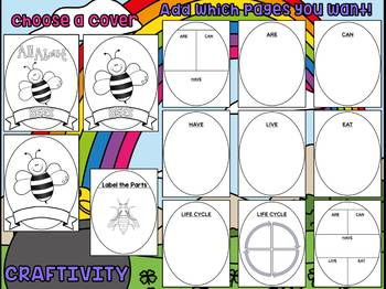 BEES - Writing Craft and Graphic Organizers SET, Book Template, Activity