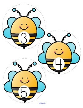 BEES Matching 10-frames, Tally Marks, Sets, and Numbers 0-10