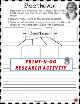 BEETHOVEN Research Activity Sheets