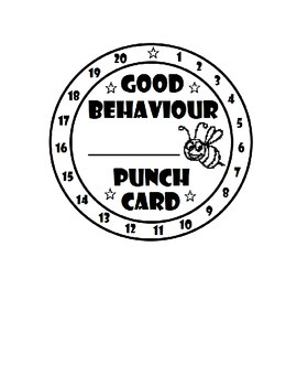 BEEhaviour Punch Card