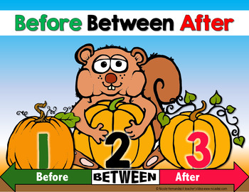 Number Sense - BEFORE and AFTER Center Activity