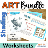 BEGINNER SHADING ART WORKSHEET BUNDLE: Middle & High Schoo