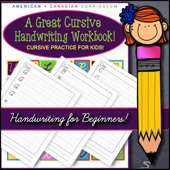 KIDS CURSIVE HANDWRITING PRACTICE WORKBOOK! GRADES 2-5! 100+ PAGES ~ NO FLUFF!