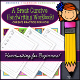 Cursive Handwriting Practice Bundle / Adorable Cursive Han