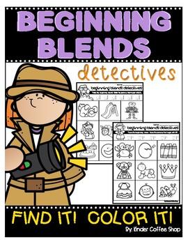 BEGINNING BLENDS DETECTIVES-FIND IT! COLOR IT!