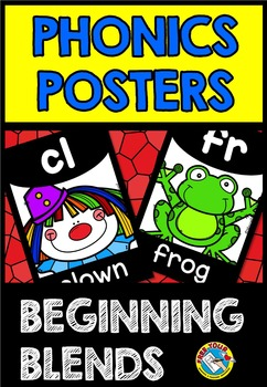 BEGINNING BLENDS POSTERS: BACK TO SCHOOL CLASSROOM DECOR: