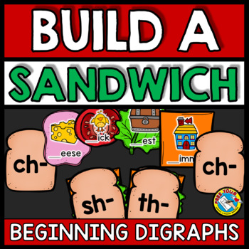 BEGINNING DIGRAPHS ACTIVITIES (BUILD A SANDWICH GAME)