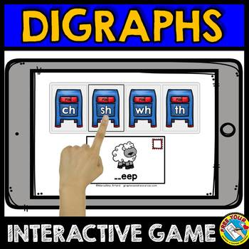 BOOM CARDS CONSONANT DIGRAPHS GAMES (BEGINNING DIGRAPH ACTIVITIES)