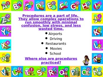 BEGINNING OF THE YEAR -PROCEDURES POWER POINT