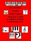 BEGINNING PIANO CARD GAMES