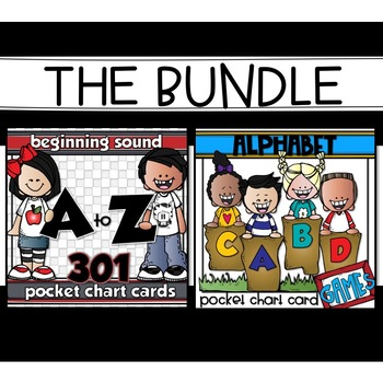 BEGINNING SOUND POCKET CHART CARDS & ACTIVITIES BUNDLE