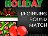 BEGINNING SOUND SORT - Holiday