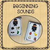 BEGINNING SOUNDS CARDS CHALKBOARD THEME