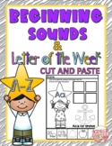 BEGINNING SOUNDS & LETTER OF THE WEEK-CUT AND PASTE NO PRE