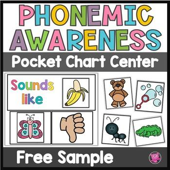 Beginning Sounds Phonemic Awareness Pocket Chart Activities
