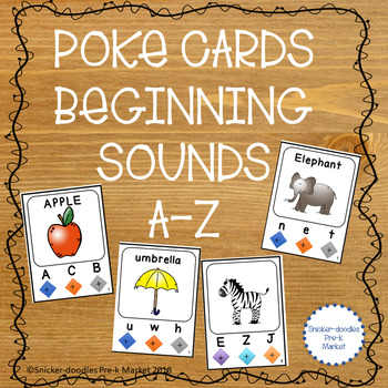BEGINNING SOUNDS POKE CARDS A TO Z