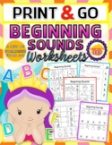BEGINNING SOUNDS PRE-K WORKSHEETS PACKET! Distance Learning from home