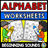 BEGINNING SOUNDS WORKSHEETS KINDERGARTEN (PRESCHOOL ALPHABET ACTIVITIES)