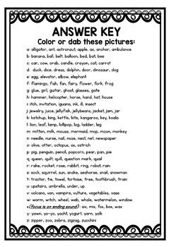 beginning sounds worksheets kindergarten preschool alphabet activities