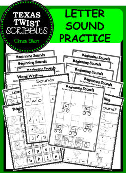 BEGINNING SOUND PRACTICE WORK {Texas Twist Scribbles}