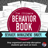 BEHAVIOR BOOK - Middle & High School Behavior Management Binder