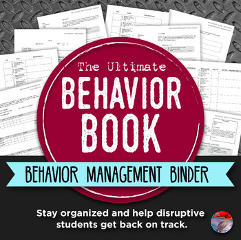 BEHAVIOR BOOK - Middle & High School Behavior    by The