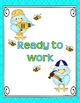 BEHAVIOR CLIP CHART & BRAG TAGS: Blue & Green, Classroom Decor
