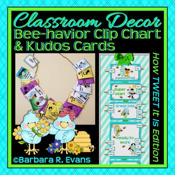BEHAVIOR CLIP CHART BRAG TAGS TWEET Bird Classroom Decor Class Management