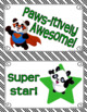 BEHAVIOR CLIP CHART BRAG TAGS Panda Theme Classroom Decor Green Black