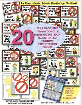 BEHAVIOR EXPECTATION SIGN PAIRS!: DO's & DON'Ts! 20 DOUBLE