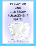 Behavior and Classroom Management Forms for Teachers