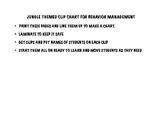 BEHAVIOR MANAGEMENT CLIP CHART JUNGLE THEMED