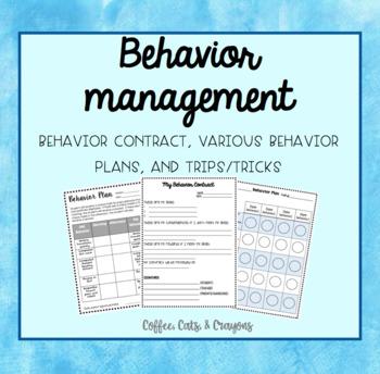 BEHAVIOR MANAGEMENT- Contract, Editable Behavior Plans, Ti