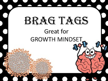 BEHAVIOR MANAGEMENT- brag tags for Growth Mindset