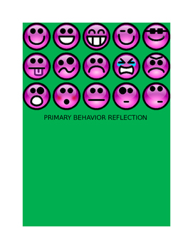 BEHAVIOR REFLECTION  CHART- PRIMARY GRADES