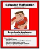 BEHAVIOR REFLECTION - Social Skills - Life Skills