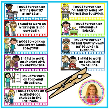 BEHAVIOR SPECIFIC CLIP CHART Helping Those Kids Who Forget Why They Moved a Clip