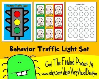 BEHAVIOR TRAFFIC LIGHT SET pEcS PiCtUrE cArDs autism asd s
