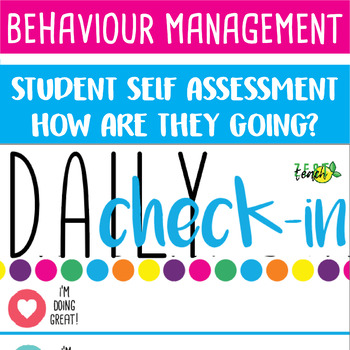 BEHAVIOUR CHECK IN - How are you feeling? Daily Check-In. Poster for post its!