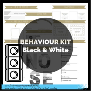 BEHAVIOUR MANAGEMENT - Beginner's Kit (B&W Version)