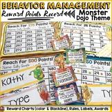 BEHAVIOR MANAGEMENT EDITABLE CLASS REWARD CHARTS: MONSTER/